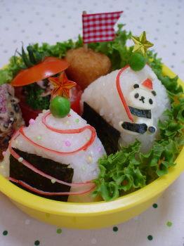 豆パンダchanのクリスマスのお弁当