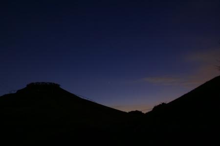 20100130月と火星と川和富士公園3