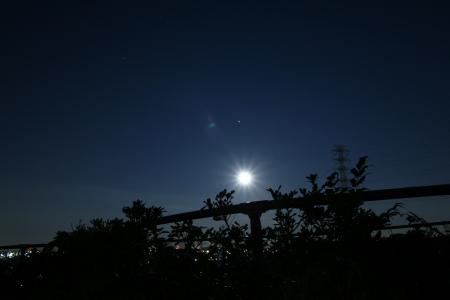 20100130月と火星と川和富士公園