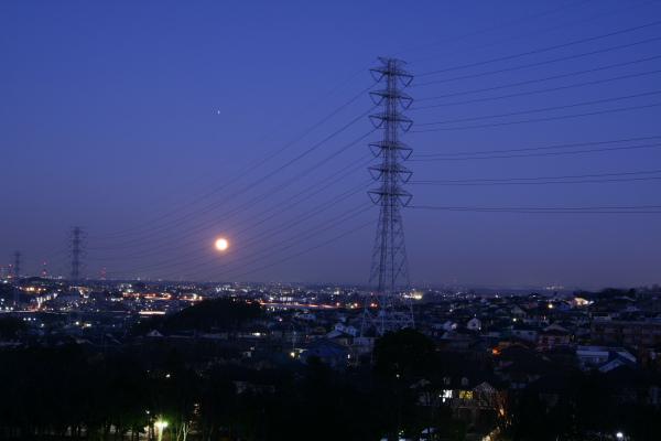 20100130月と火星と川和富士公園1