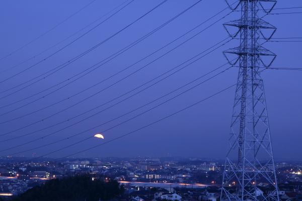 20100130月と火星と川和富士公園2