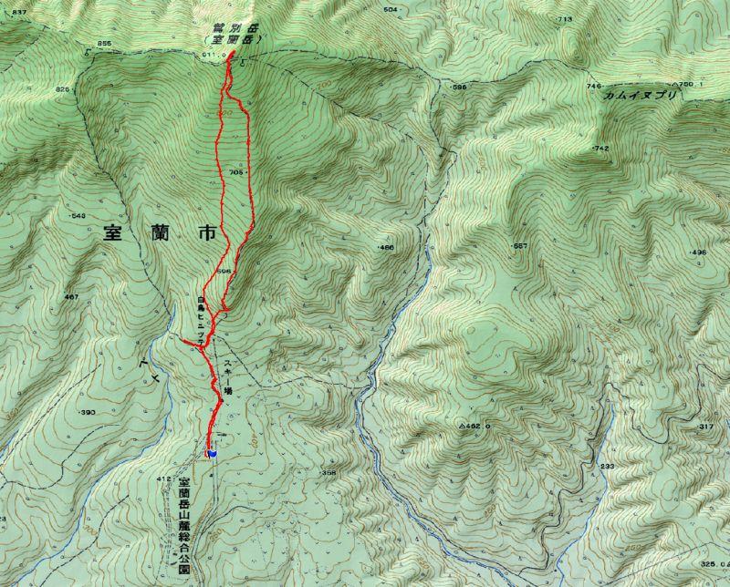 室蘭岳map
