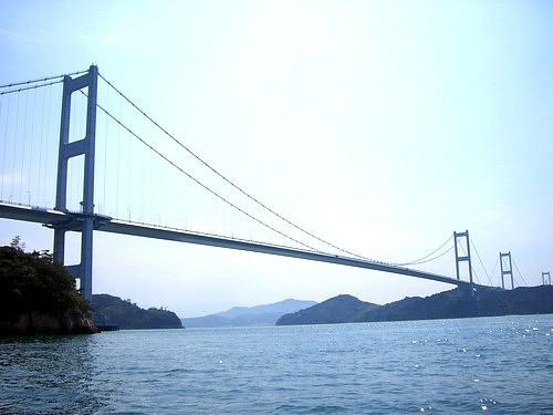 しまなみ海道を見上げて