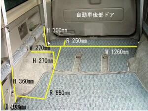 ステップワゴン荷室寸法