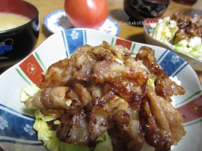 生姜焼きとはちょっと違う和テイストの豚丼