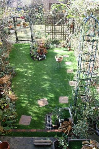 小春日和の芝庭