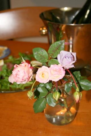 庭のバラの切花