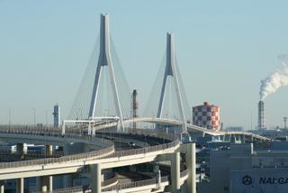 鶴見つばさ橋と大黒ふ頭JCT