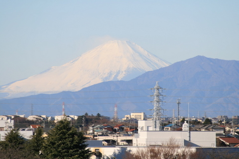 マンションから望む富士山