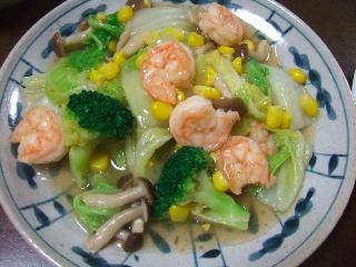 白菜とえびのうま煮
