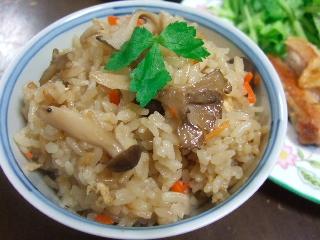 舞茸の炊き込みご飯0131