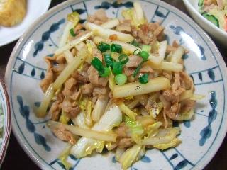 豚肉と白菜の細切り炒め