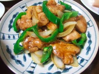 鶏とピーマンのオイスターソース炒め0418