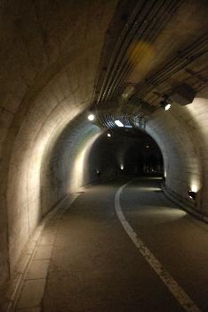 滝までのトンネル。