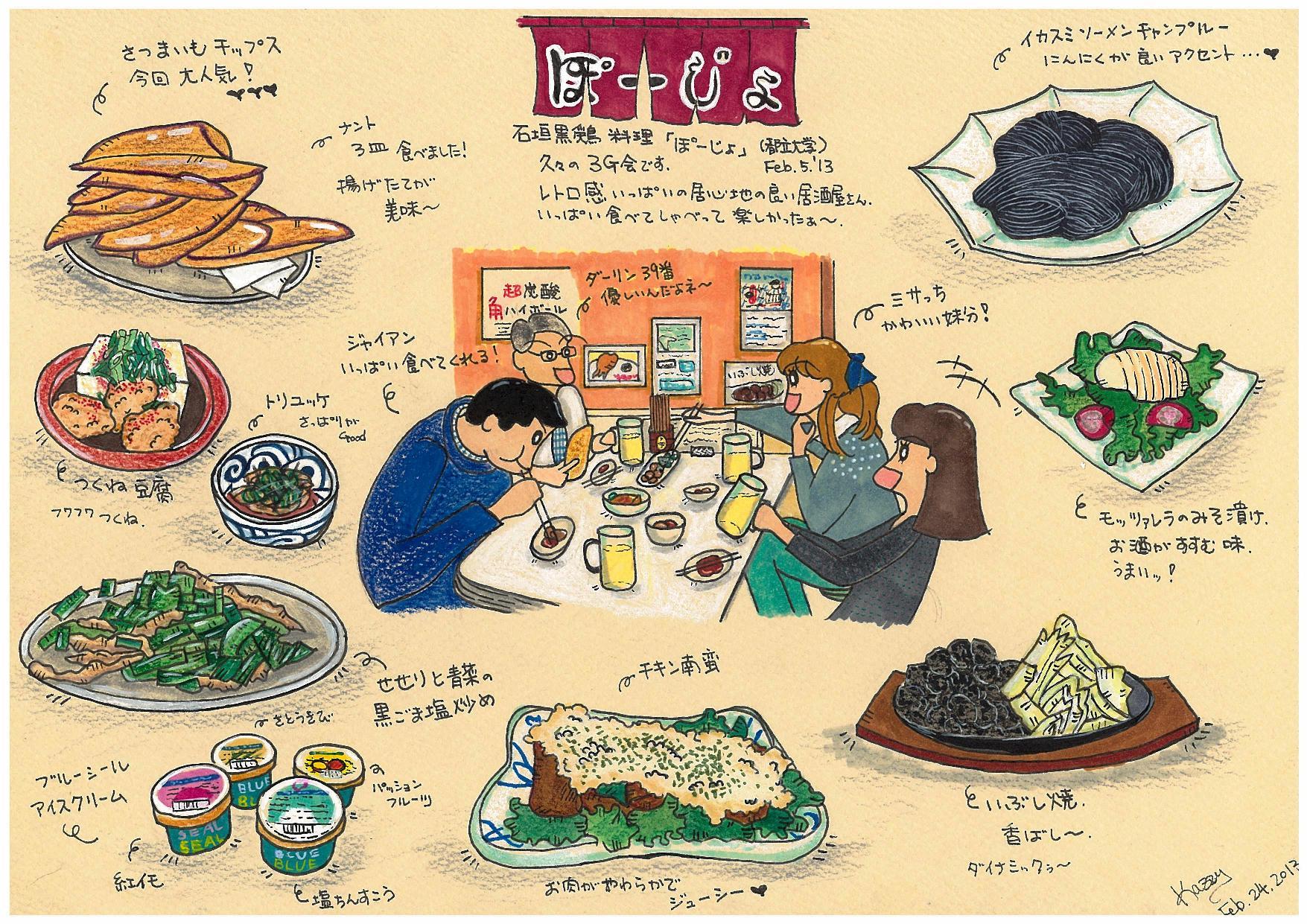イラスト ぐるっとおいしい世界旅行 石垣料理