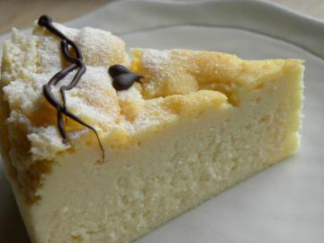 お誕生日のおすそ分けスフレチーズケーキ