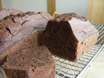 チョコのパウンドケーキ 断面
