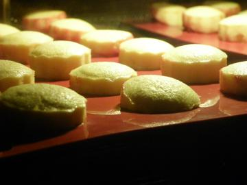 スモモとチーズのカップケーキ 焼成中