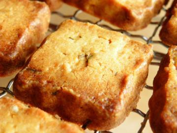 レモンとローズマリーのクッキー 焼き上がり
