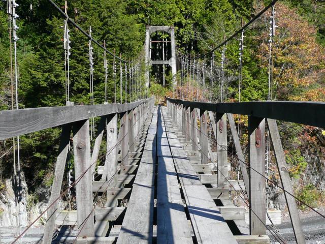 雨畑の吊橋