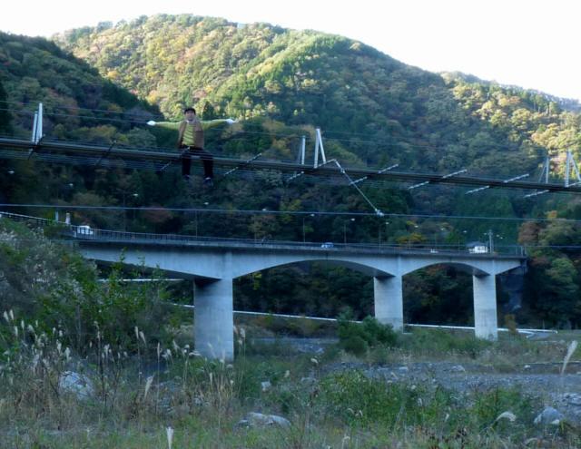 入島の吊橋10