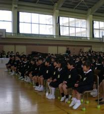 田上小学校入学式