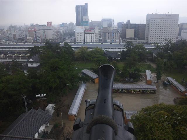天守から福山駅