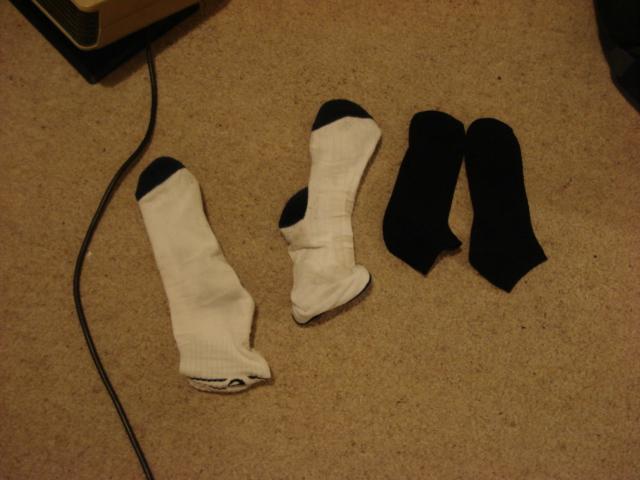 ホストマザーの靴下を借りることに