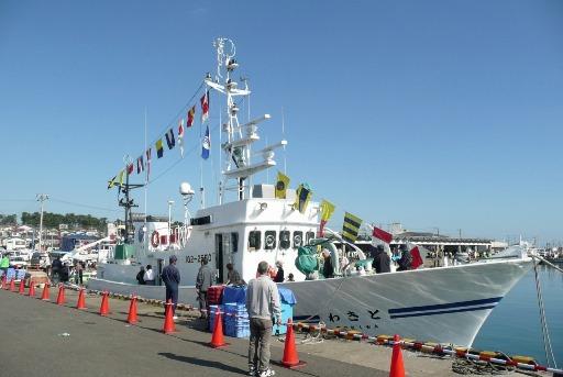 巡査船「ときわ」の一般公開