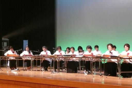 芸能発表会での大正琴