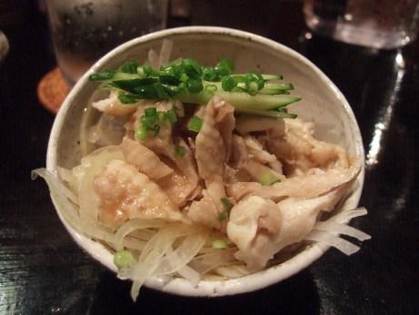 霧島鶏の鶏皮ぽん酢