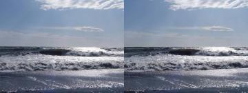強風でカメラも揺れる