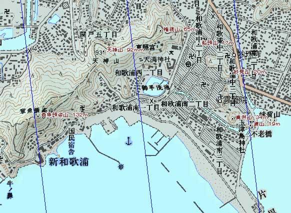 和歌浦湾地図