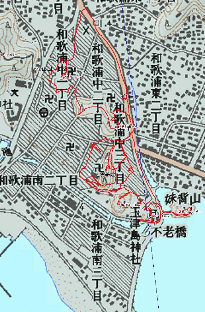 玉津島2.5万図