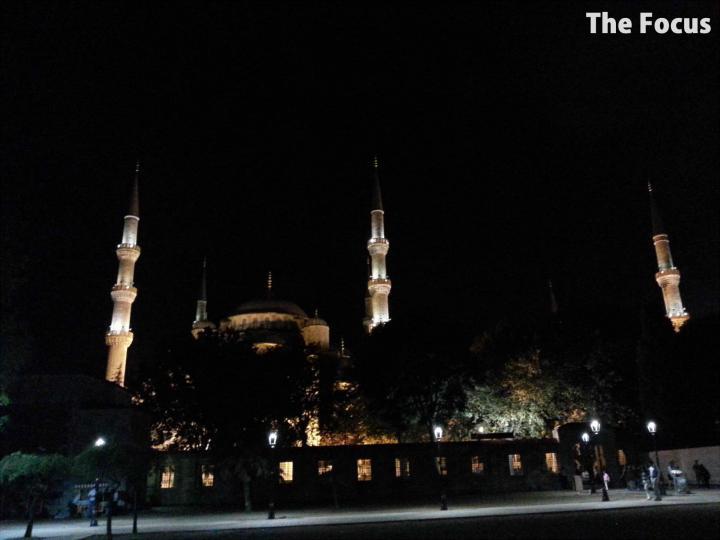 トルコ イスタンブール 夜 モスク