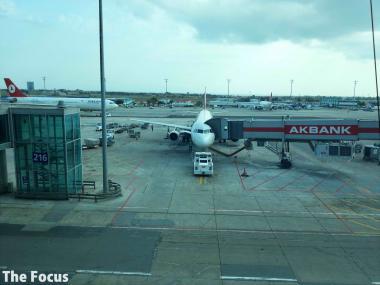 アタテュルク国際空港 飛行機