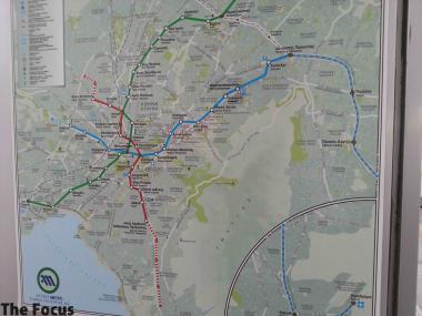 ギリシャ アテネ 路線図