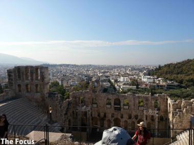ギリシャ アテネ パルテノン神殿 丘 登る 徒歩