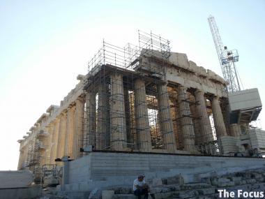 ギリシャ アテネ パルテノン神殿 改装