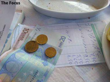 ギリシャ エギナ島 会計