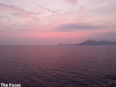 サモス島 朝焼け