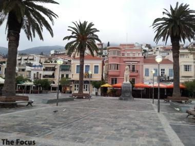 サモス島 中心街