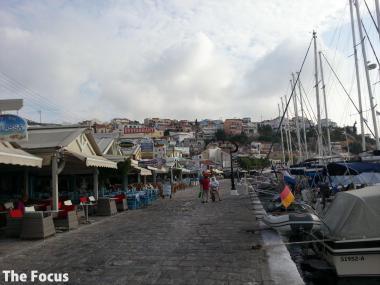 サモス島 ピタゴリオ 港