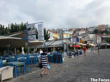 サモス島 ピタゴリオ カフェ レストラン
