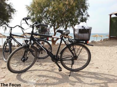 サモス島 自転車 ビーチ