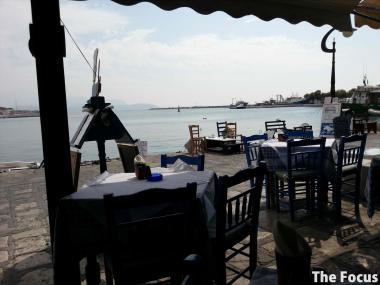 ギリシャ サモス島 レストラン ピタゴリオ オーシャンビュー