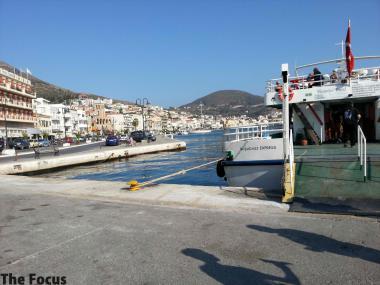 サモス島 ギリシャ 出国