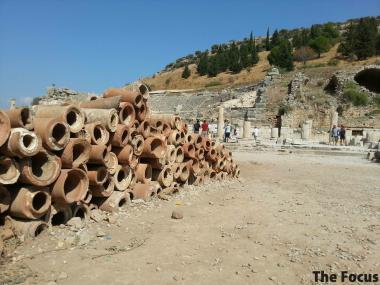 トルコ エフェス 水道管
