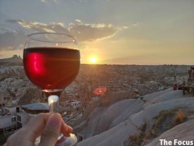 カッパドキア ワイン 夕日