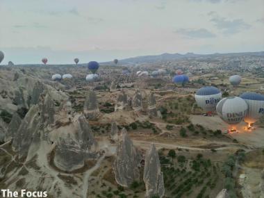 カッパドキア 気球 トルコ
